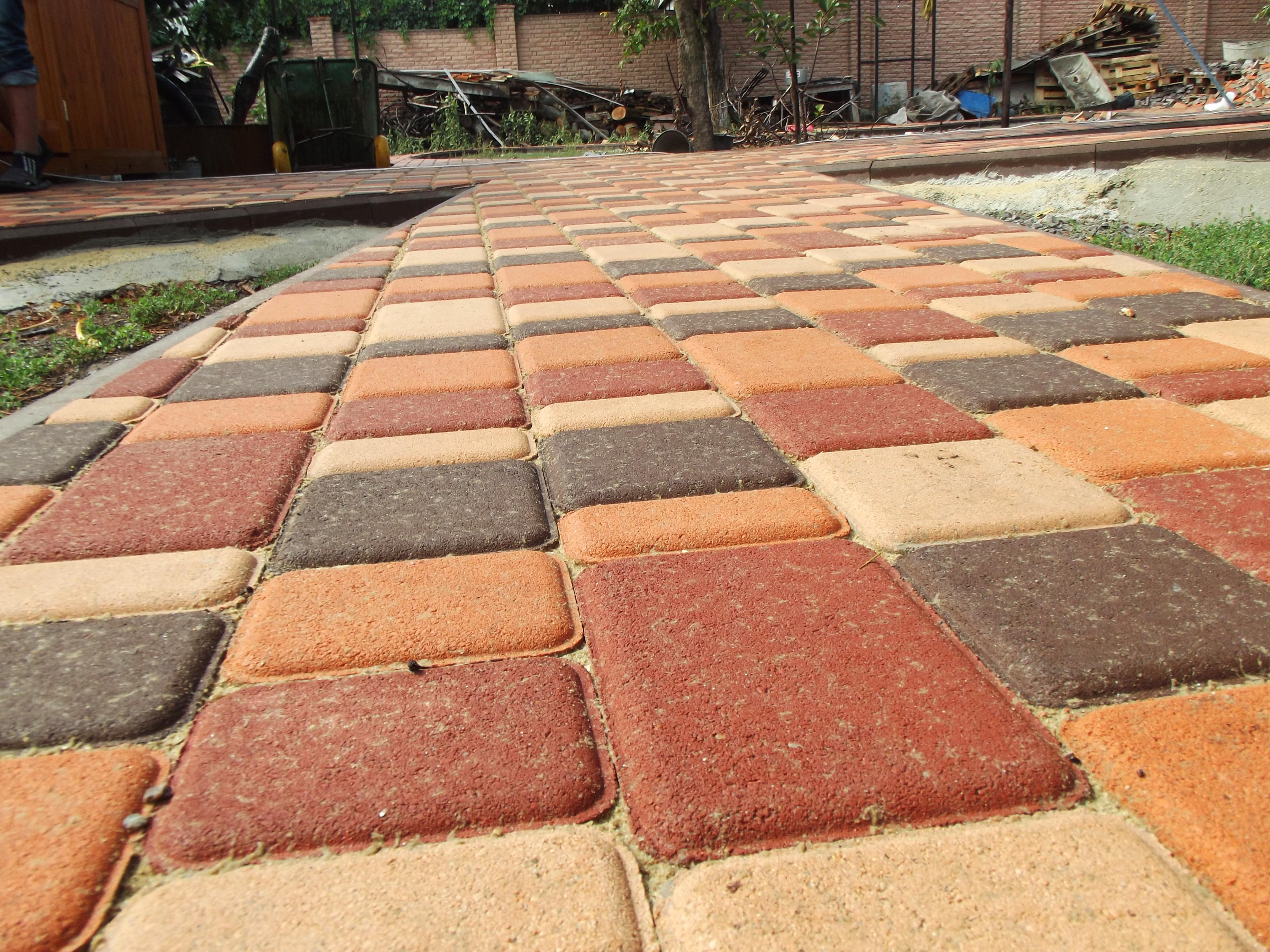 Крупный план тротуарной плитки