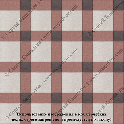 Квадрат 200*200 мм Корзинка (белый, красный, коричневый)