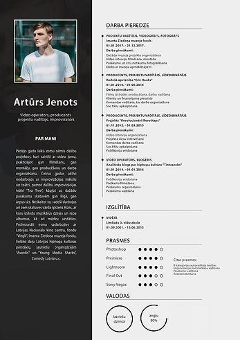 Artūrs Jenots CV