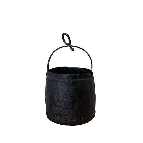 Vintage Indian Iron Pot