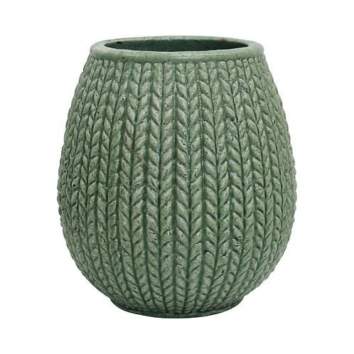 Plaited Jade Pot