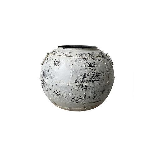 White Iron Pot