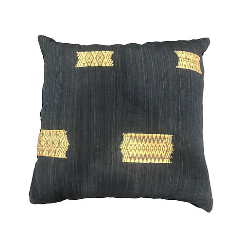 Burma Indigo Camel Patch Cushion