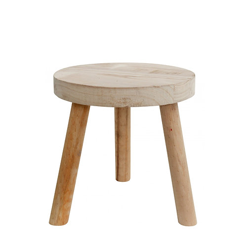 Round Timber Stool Natural