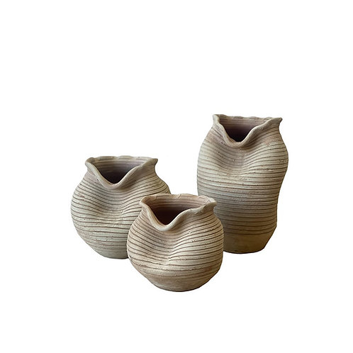 Indian Clay Pots - Set of 3