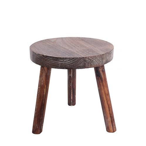 Round Timber Stool