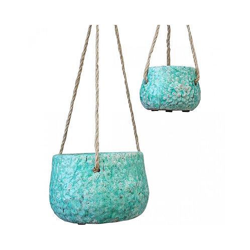 Flower Emerald Hanging Pot