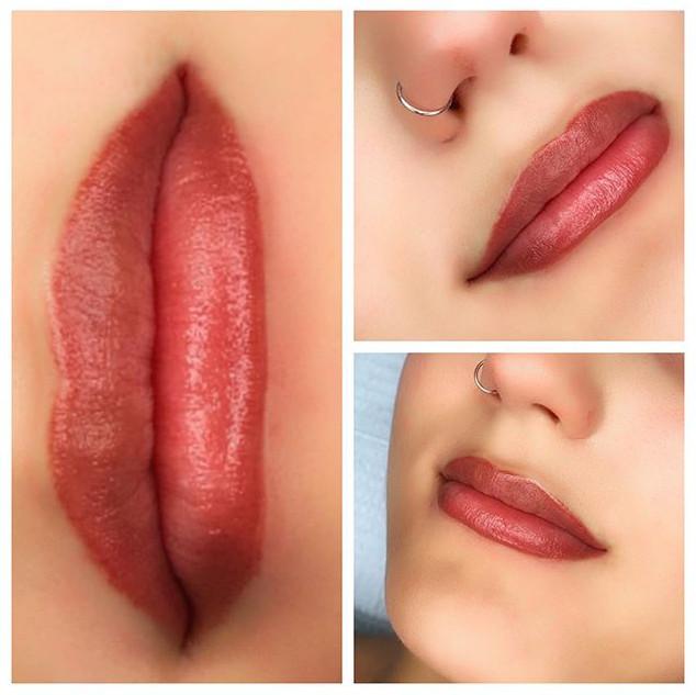 ✨Freshly done lip blush✨ #permanentmakeu