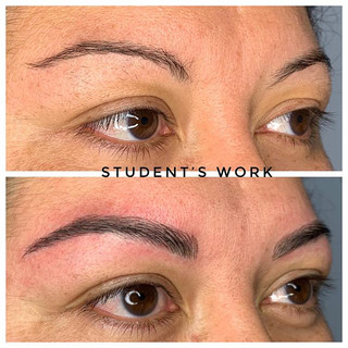 ✨Student's first client✨  #microblading