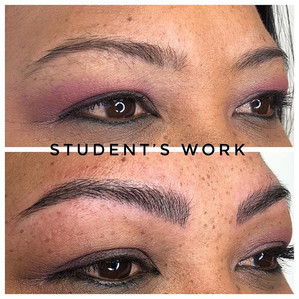 Student's first model #microblading #eye