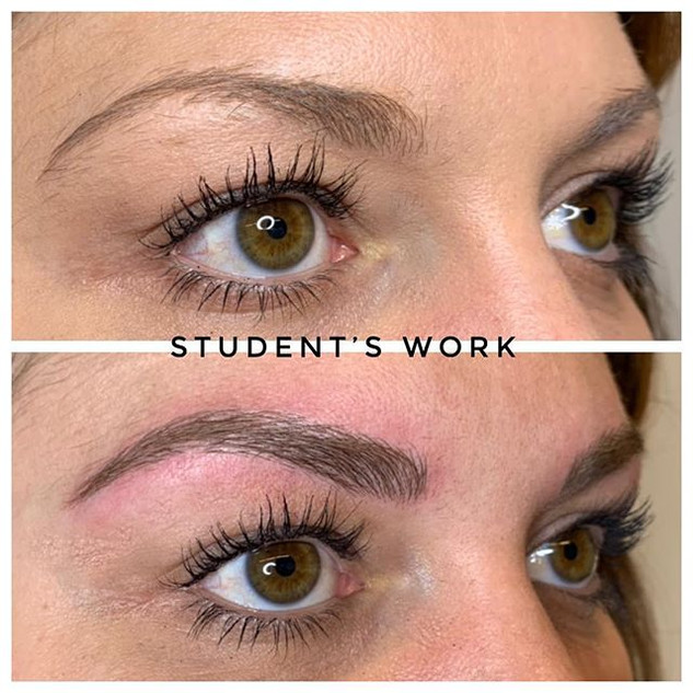 Student's first model🤩 #microblading #e