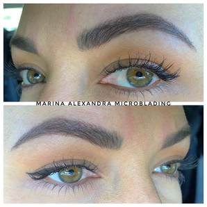 No pencil needed☝🏼 Healed brows #microb