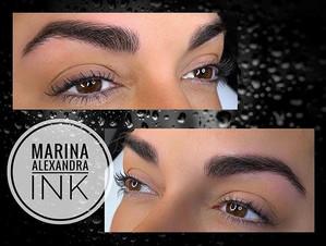 Natural looking full brows 😍 #permanent