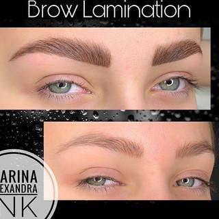 Brow Lamination 🙌🏼 #permanentmakeup #c