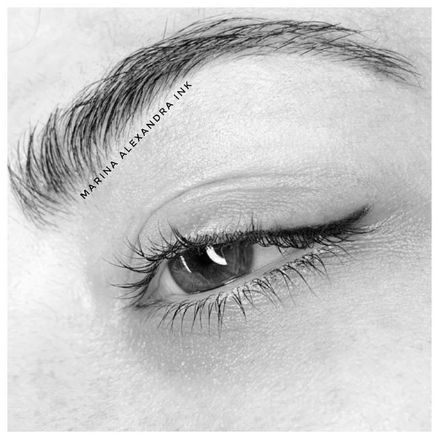 ✨Subtle eyeliner today✨ #microblading #e