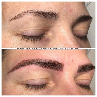 Microblading with Shading #microbladinge