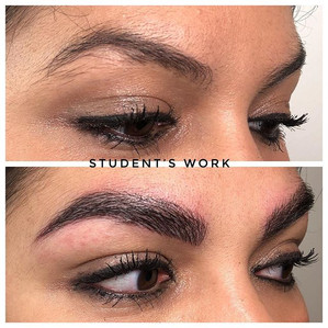 Student's first client #microblading #ey