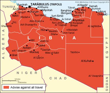 Libya Travel Map