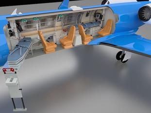 Dual stretcher LR45 for EMS