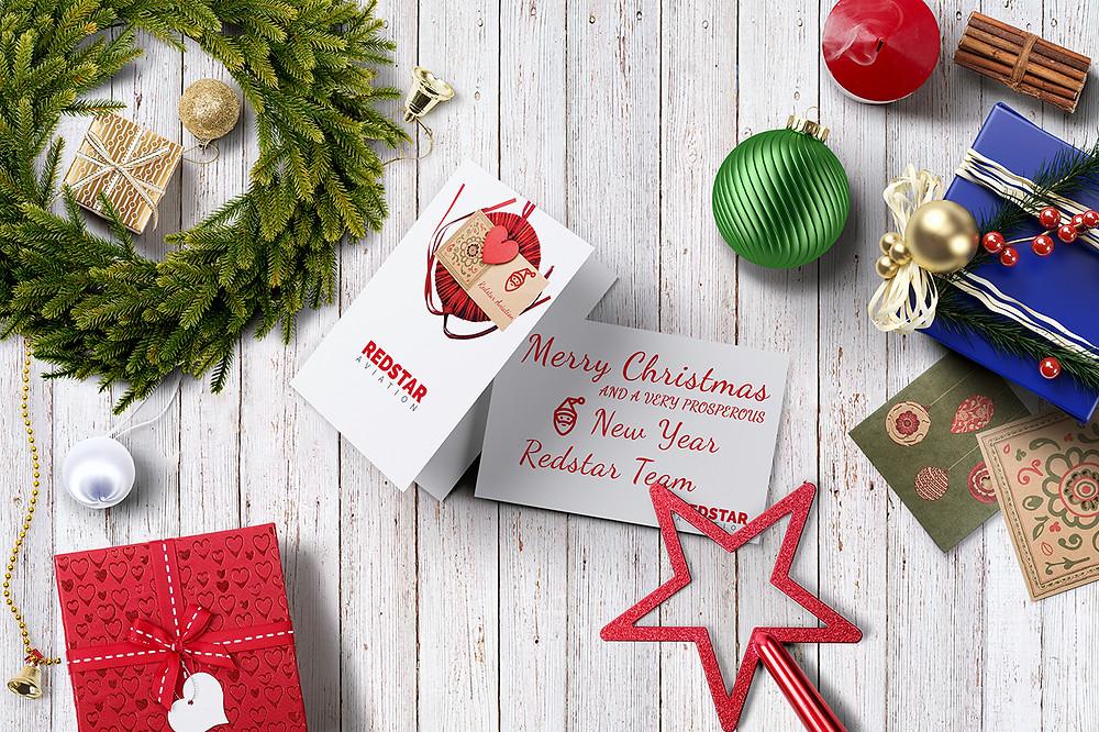 Redstar Christmas Card