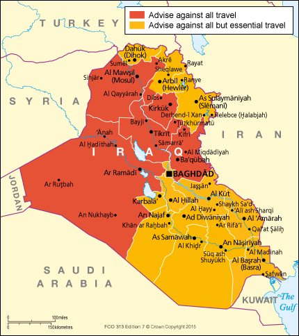 Iraq Travel Map