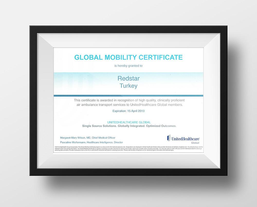 Global Mobility Certificate-UnitedHealthcare Global