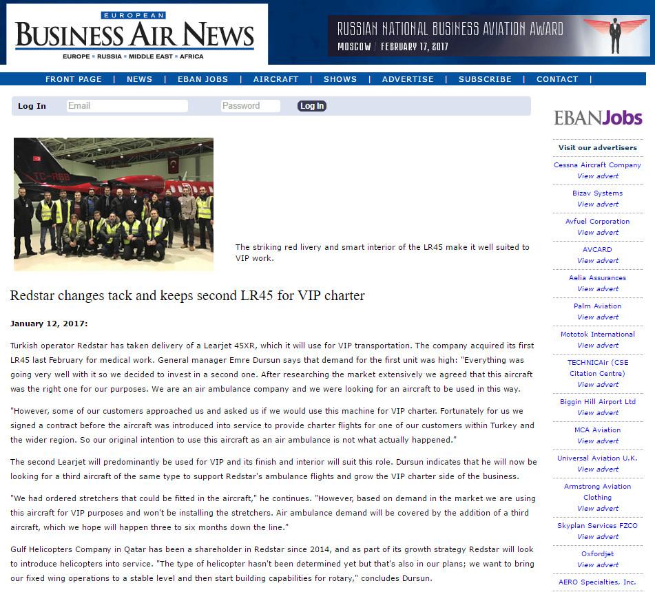 EBAN Magazine Redstar Aviation