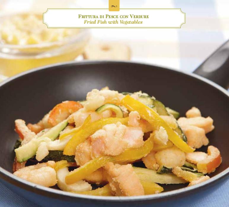 Frittura di pesce con verdure