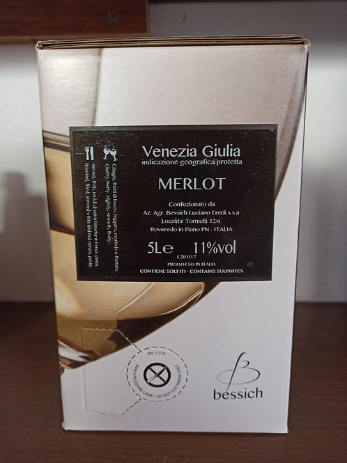 Merlot Beg da 5 litri