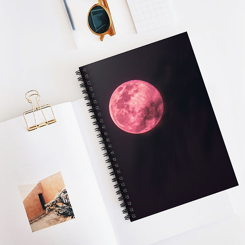 Super Pink Moon-Spiral Notebook
