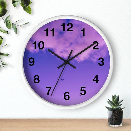 Purple Reign Wall clock