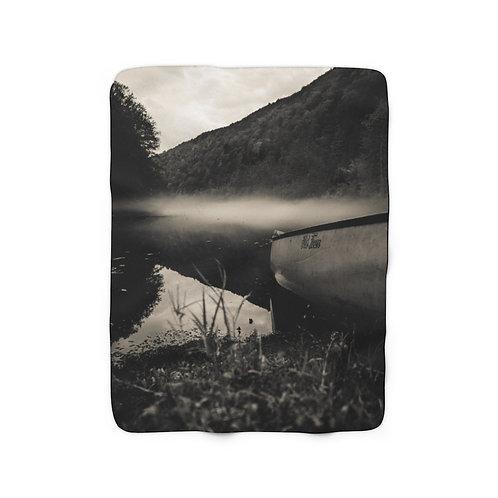 Foggy Mountains- Sherpa Fleece Blanket
