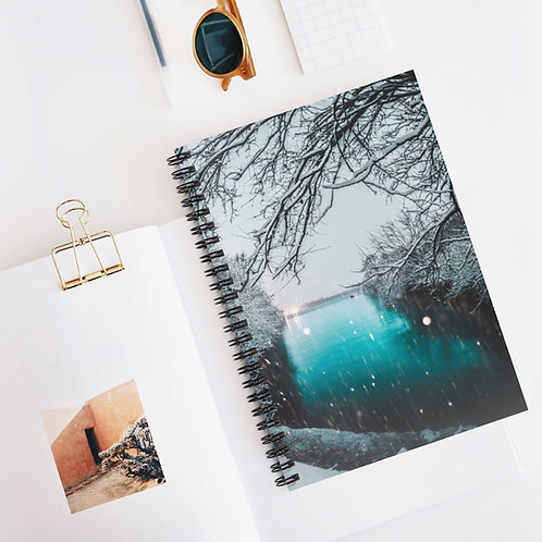 Snowy Winter- Spiral Notebook