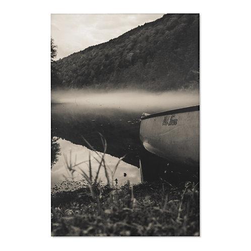 Black & White foggy river- Area Rugs