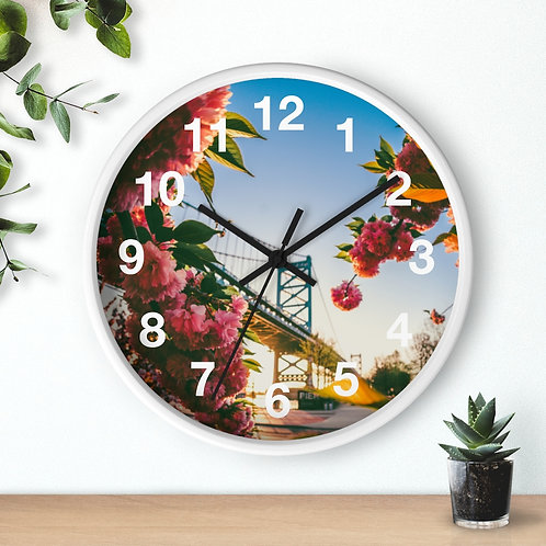 Spring bloom Wall clock