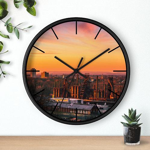 Bethlehem Steel Sunset-Wall clock