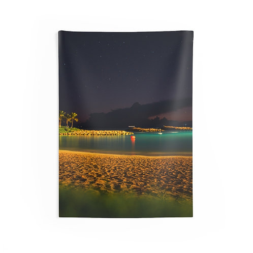 A paradise under the stars- Indoor Wall Tapestry