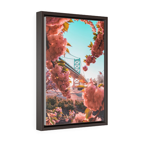Cherry Blossoms with Benny Frank Bridge- Premium Gallery Wrap Canvas