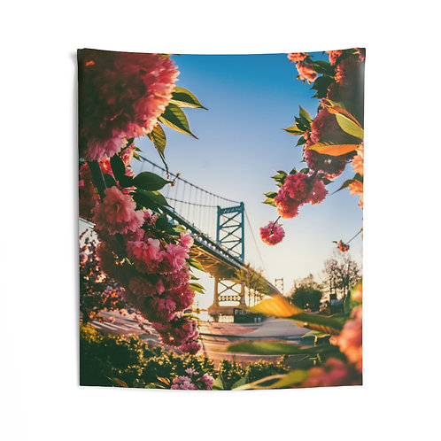 Cherry Blossoms in Philly- Indoor Wall Tapestry