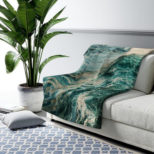 Waves- Sherpa Fleece Blanket