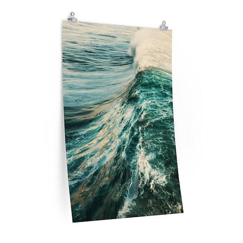 Waves of the ocean- Premium Poster