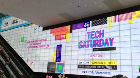 Tech Saturday - Suntec Big Wall