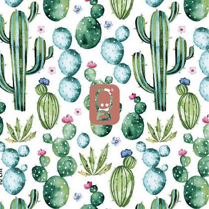 Coton imprimé cactus