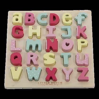Little dutch - puzzle alphabet en bois