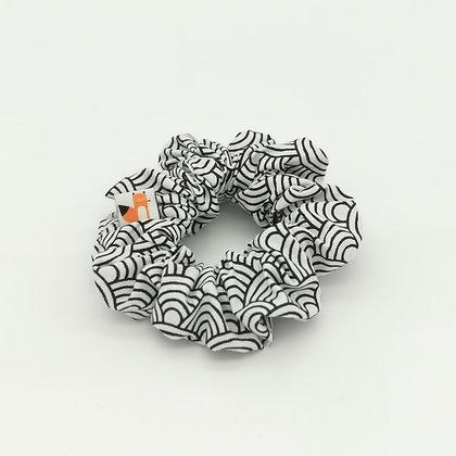 Chouchou Black & White Graphique blanc