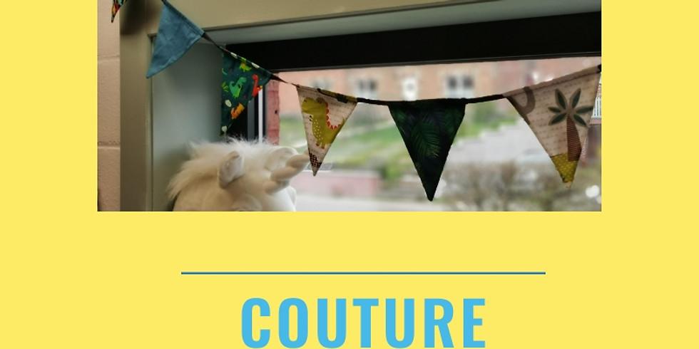 Couture : guirlande de fanions