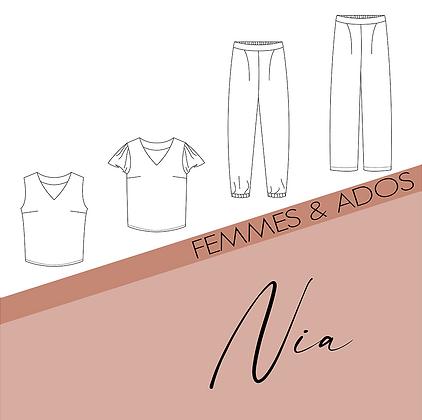 Modèle Nia - Patron couture Bel'Etoile - Femme & Ado