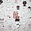 Thumbnail: Coton imprimé chiens amusants