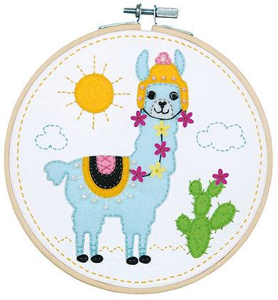 Kit d'artisanat avec feutre Lama