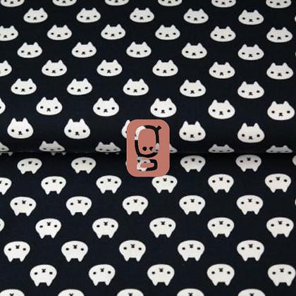 Popeline de coton imprimée motif chats